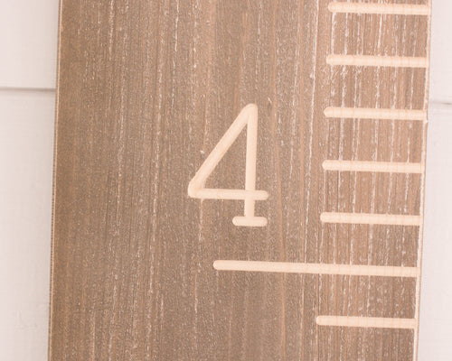 Weathered Wood Carved Growth Chart - Oversized Wooden Ruler - Growth Chart Ruler - Family Height chart - Baby Growth Chart - Baby Gift