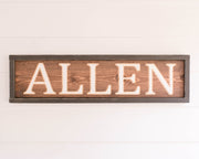 Family Name Signs- Multiple Color Options