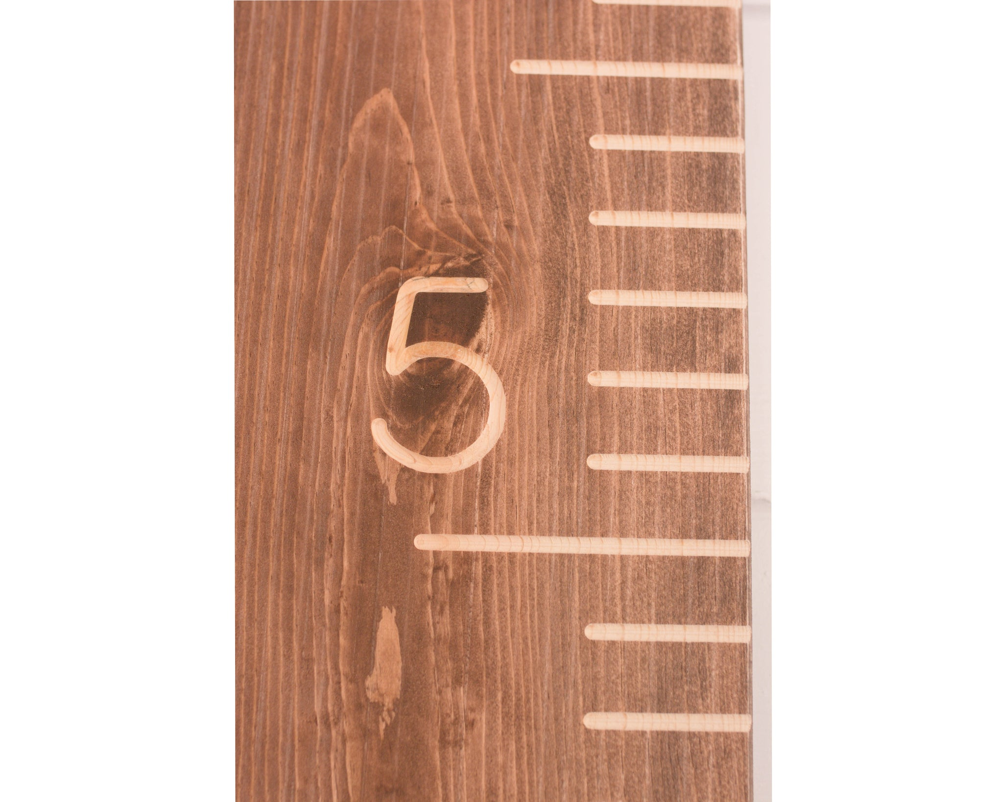 Walnut Carved Growth Chart Oversized Wooden Ruler Growth Chart