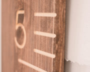 Walnut Carved Growth Chart - Oversized Wooden Ruler - Growth Chart Ruler
