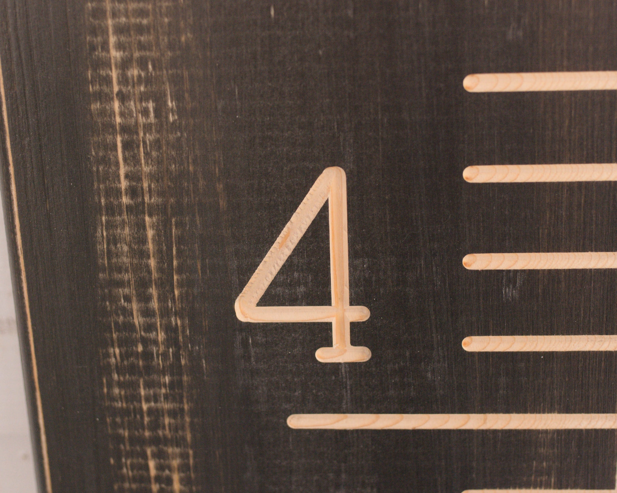 Rustic black carved growth chart oversize wooden ruler growth rustic black carved growth chart oversized wooden ruler growth chart ruler family height nvjuhfo Images