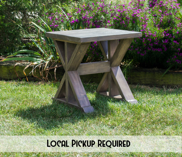 Farmhouse End Tables - Rustic End Tables - Wood Side Tables - Rustic Side Tables - Bed Side Tables - Lamp Tables - End Tables - Rustic Night Stands - Rustic Nightstands - Nightstand Set