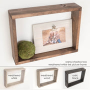 shadow box frame, picture frame shadow box, home decor shadow box, multiple color offerings.