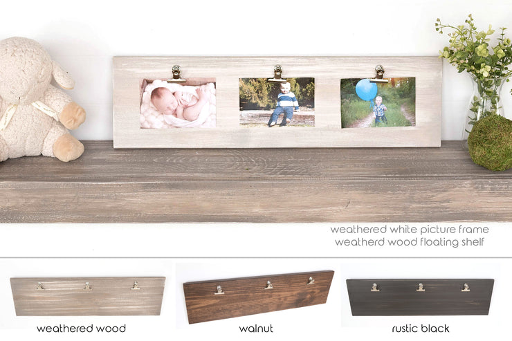 "Triple 4""x6"" Picture Frame Clipboard"