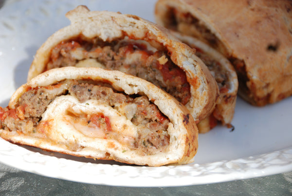 Meatball and Cheese Stromboli's