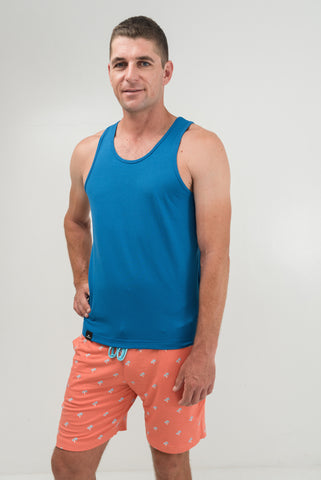Blue Lagoon Sleeveless Shirt - Men