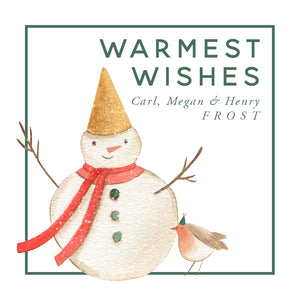 Warmest Wishes Christmas Enclosure Card