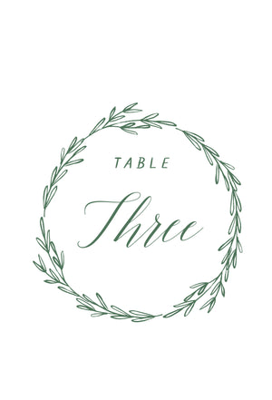 Eliza Table Numbers