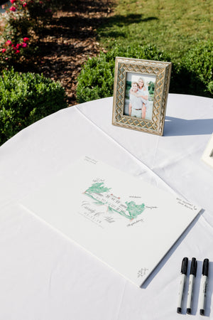 Watercolor Venue Guestbook Sign