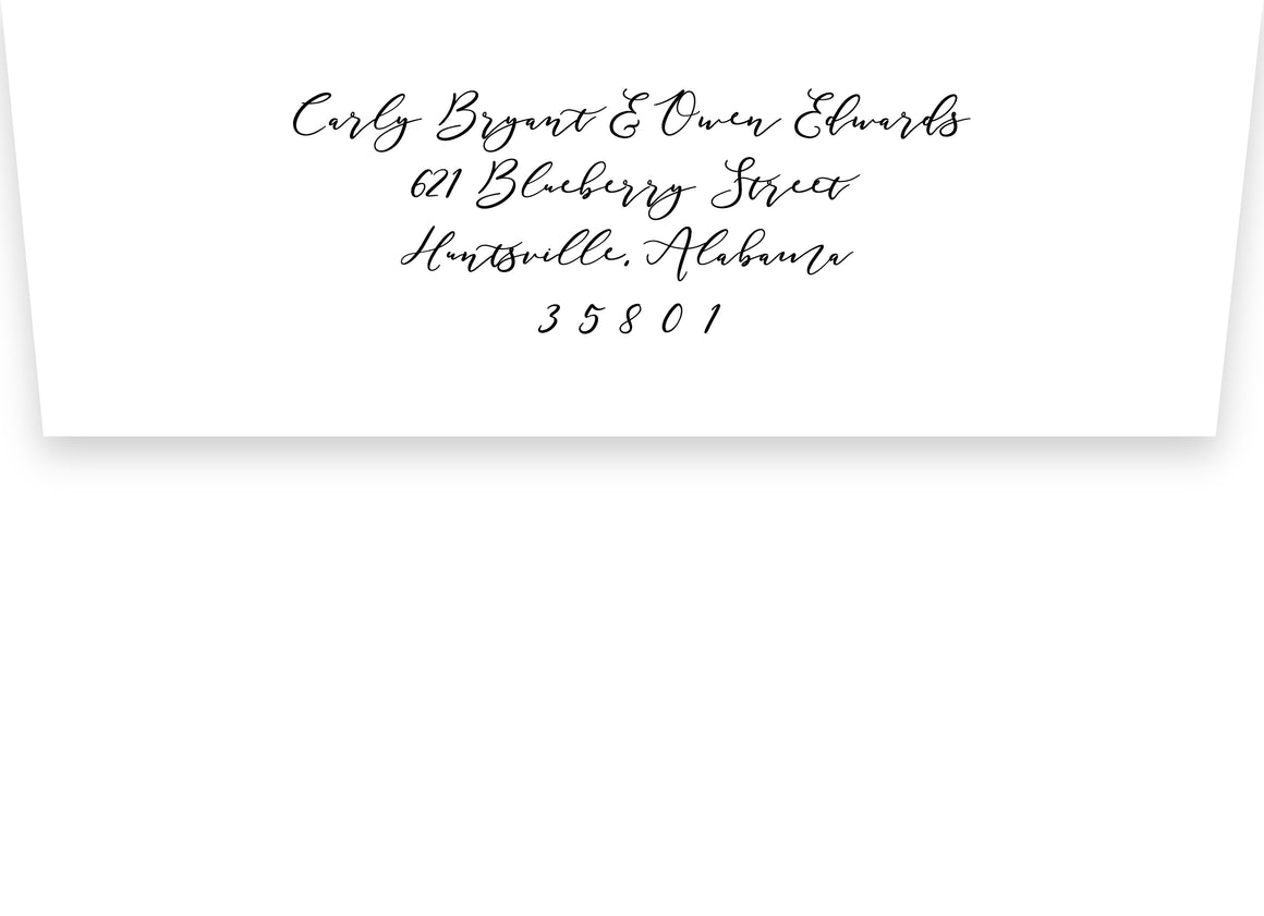 Carly Return Address Printing