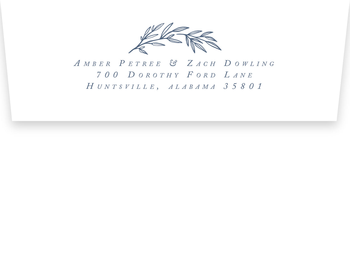 Amber Return Address Printing