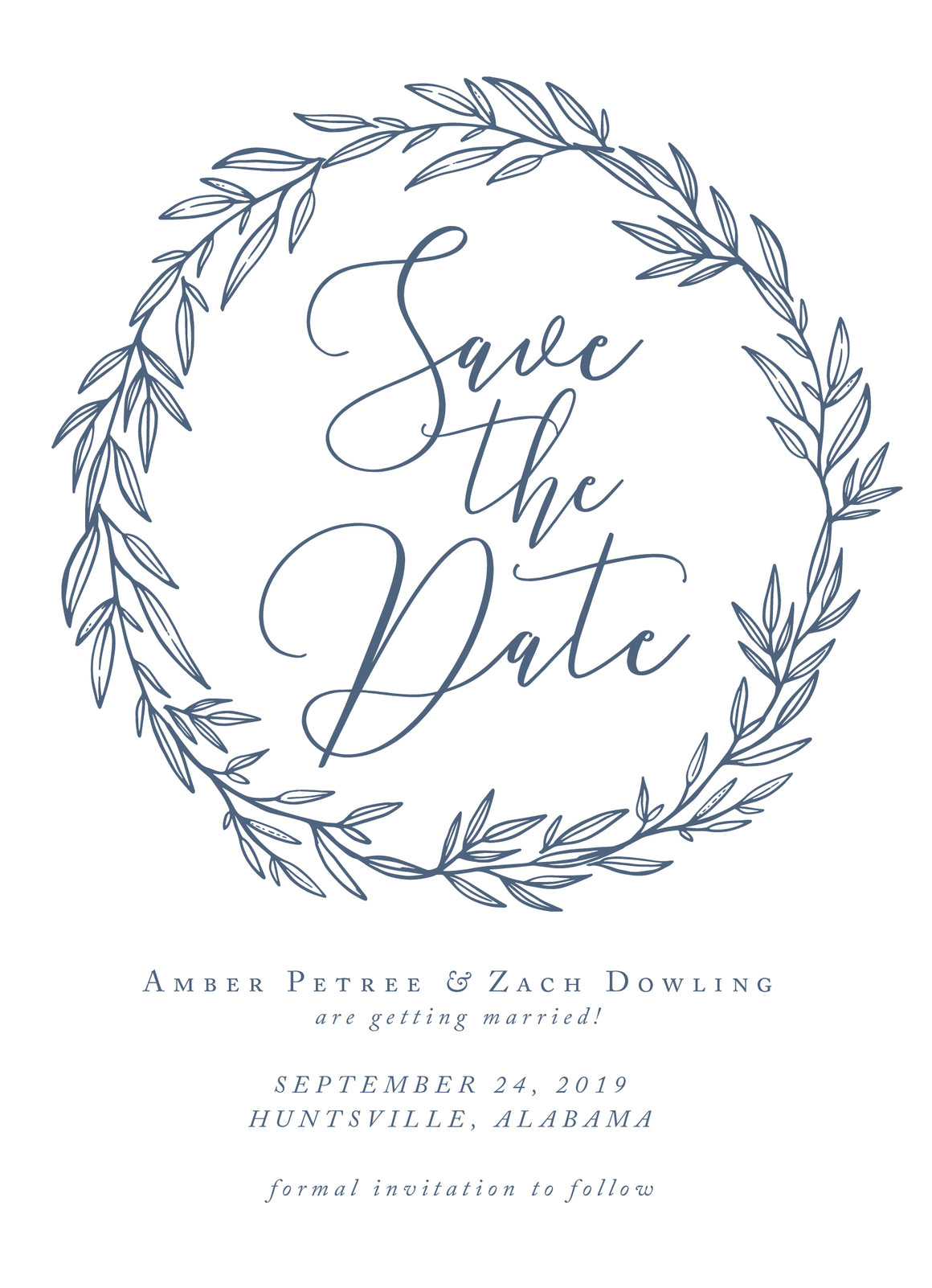 Amber Save the Date