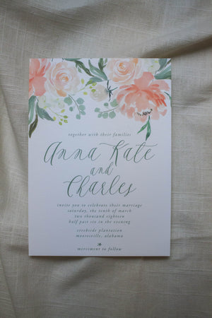 Anna Kate Invitation