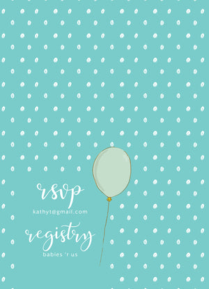 Balloon Brunch Shower Invitation
