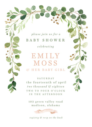 A Little Moss Shower Invitation