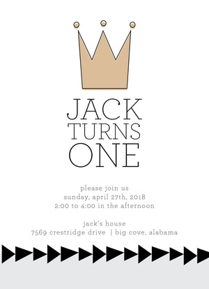 Birthday Crown Invitation