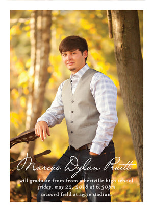 Dylan Graduation Announcement