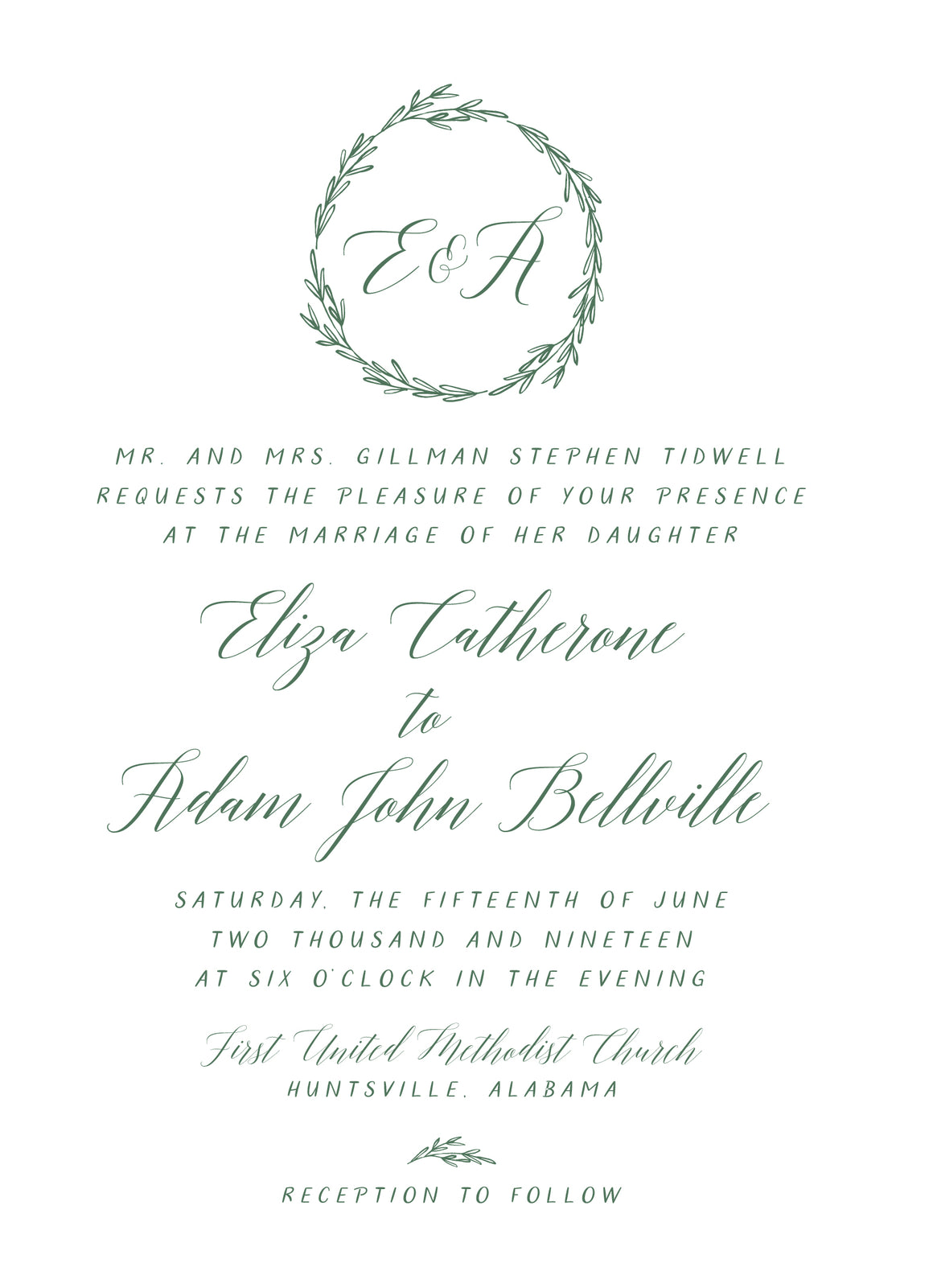 Eliza Invitation