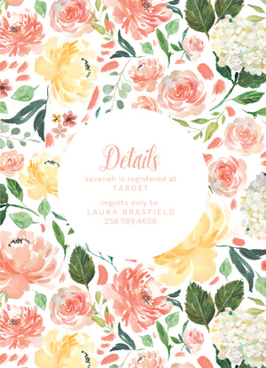 Little Flower Shower Invitation
