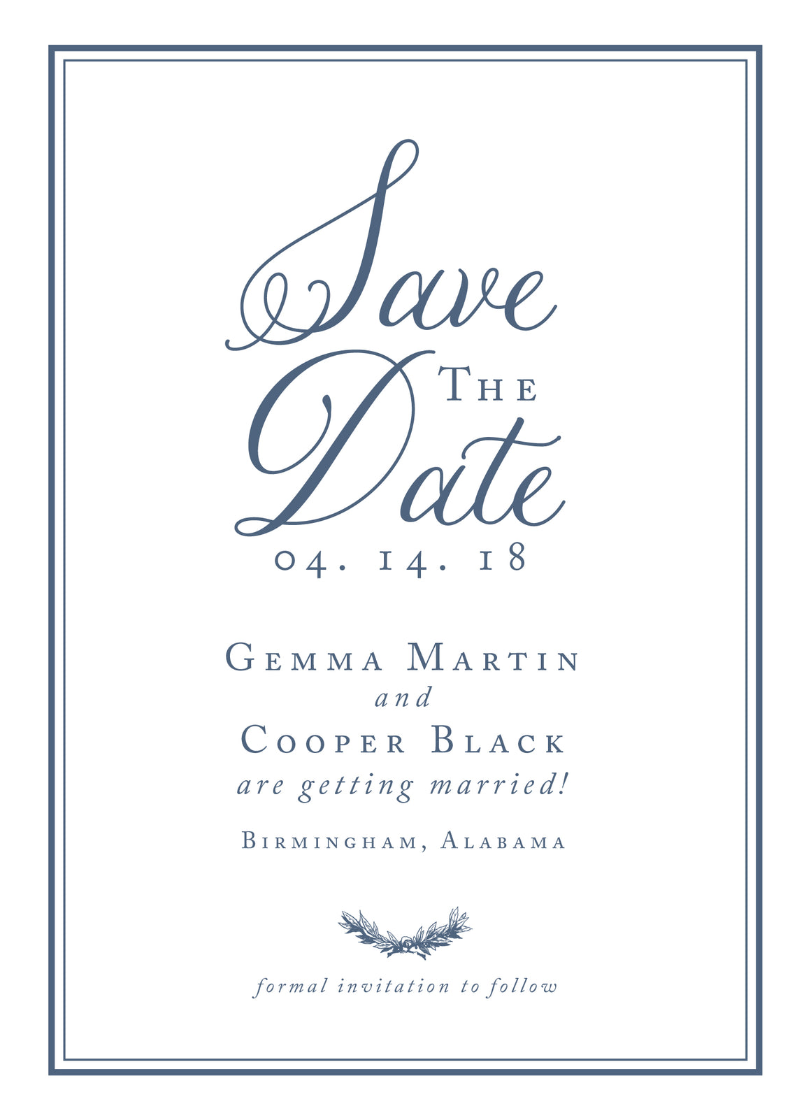 Gemma Save the Date