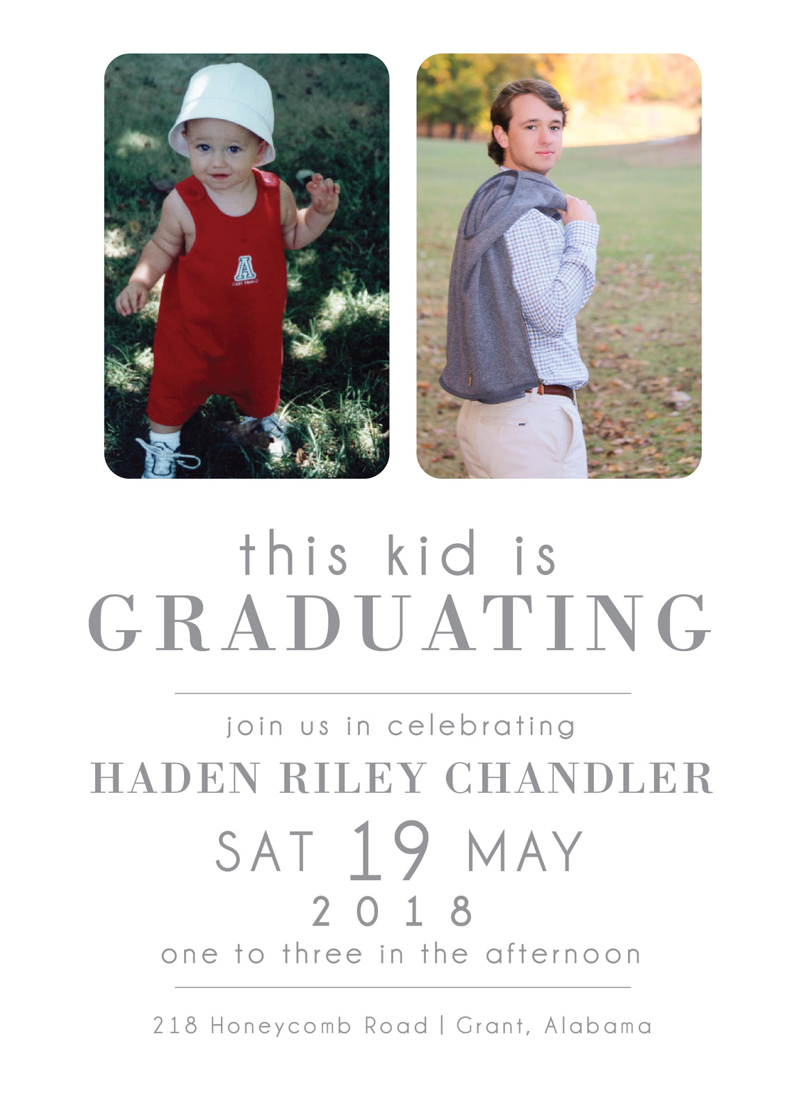 Haden Graduation Announcement