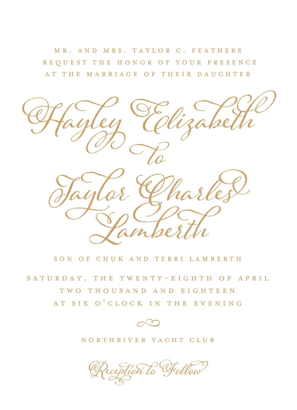 Hayley Invitation