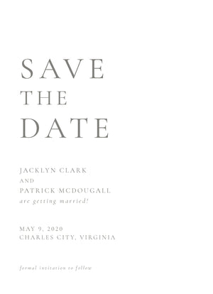 Jacklyn Save the Date