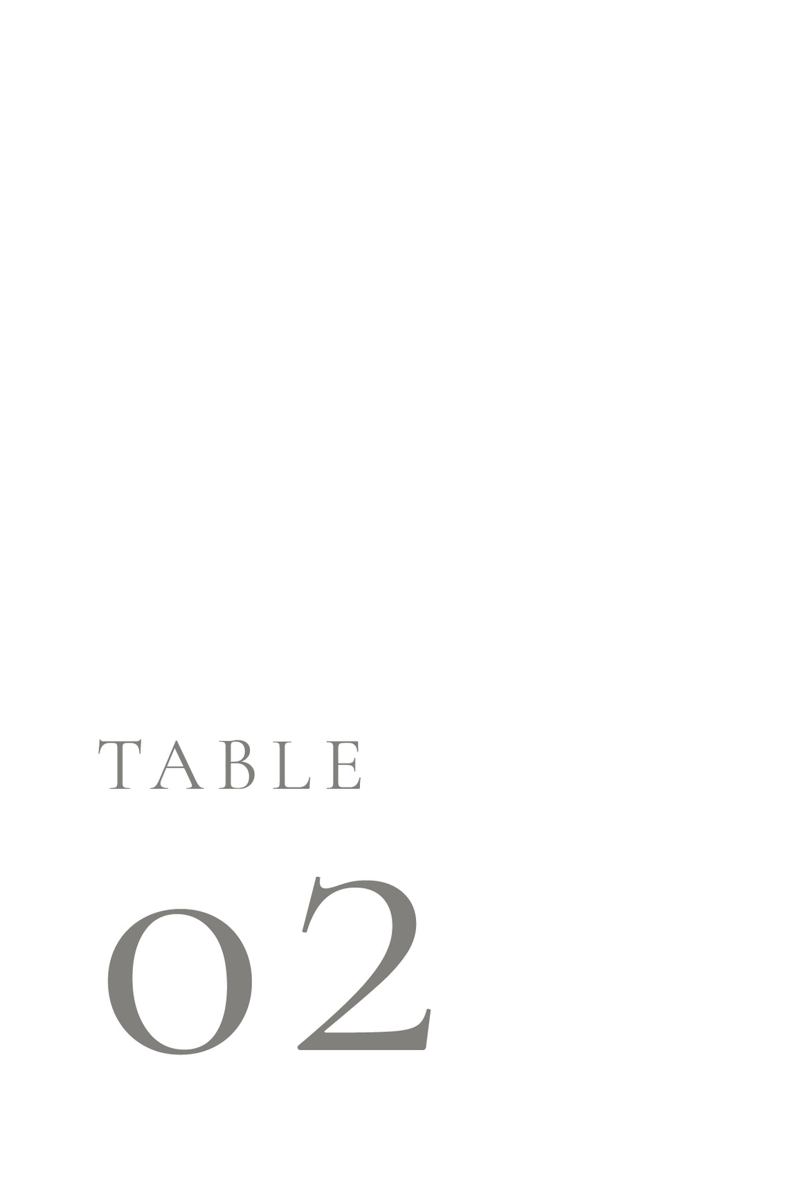 Jacklyn Table Numbers