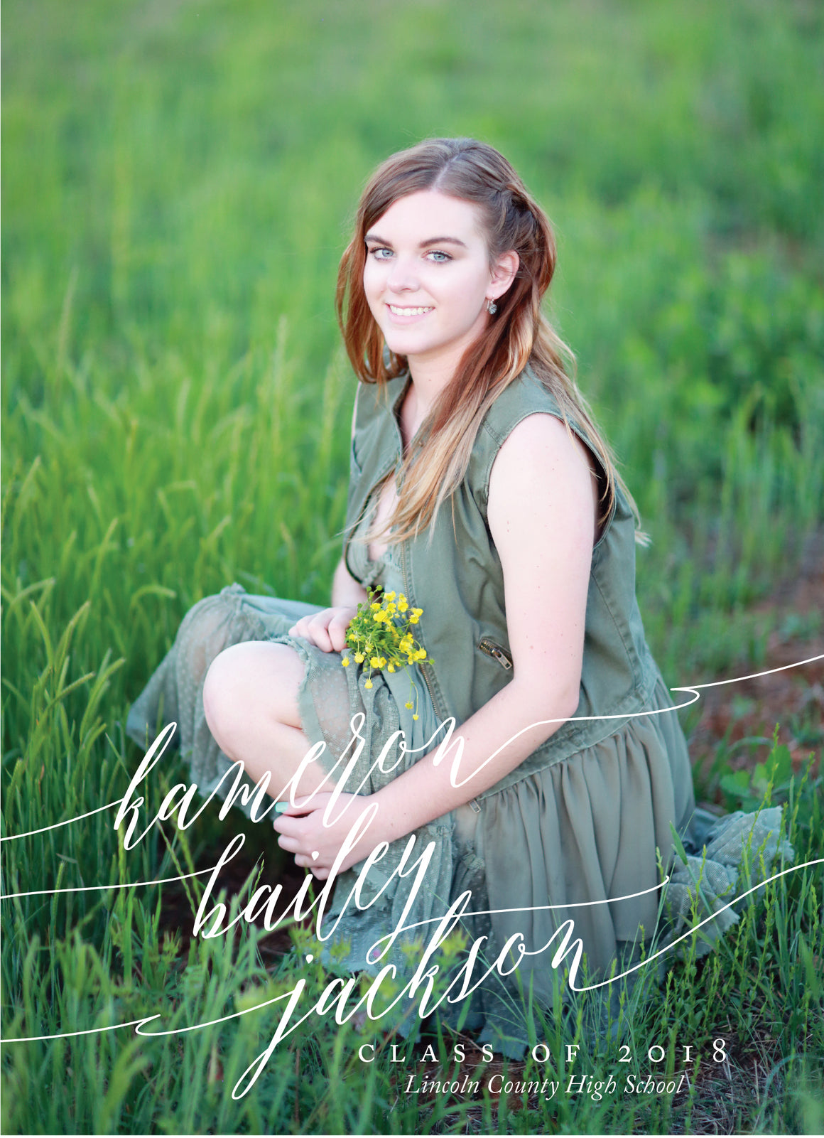 Kameron Graduation Announcement