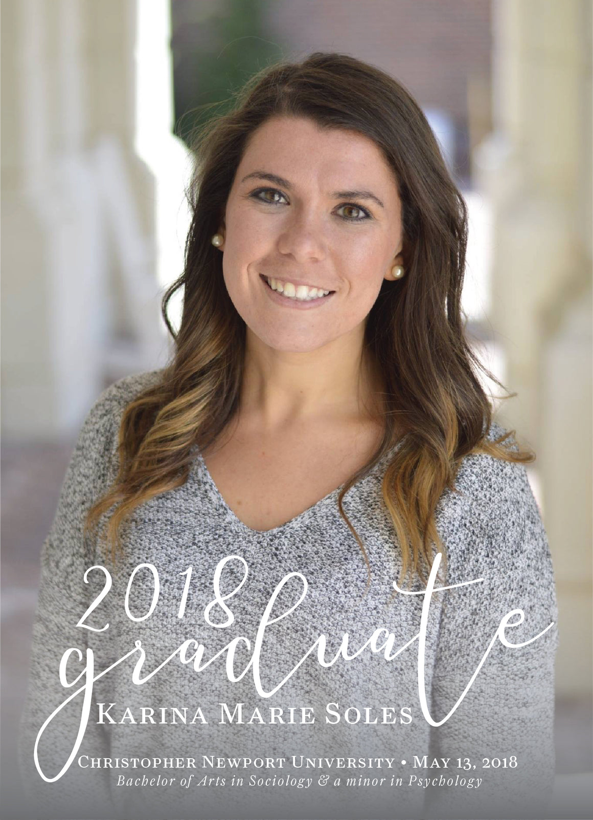 Karina Graduation Announcement