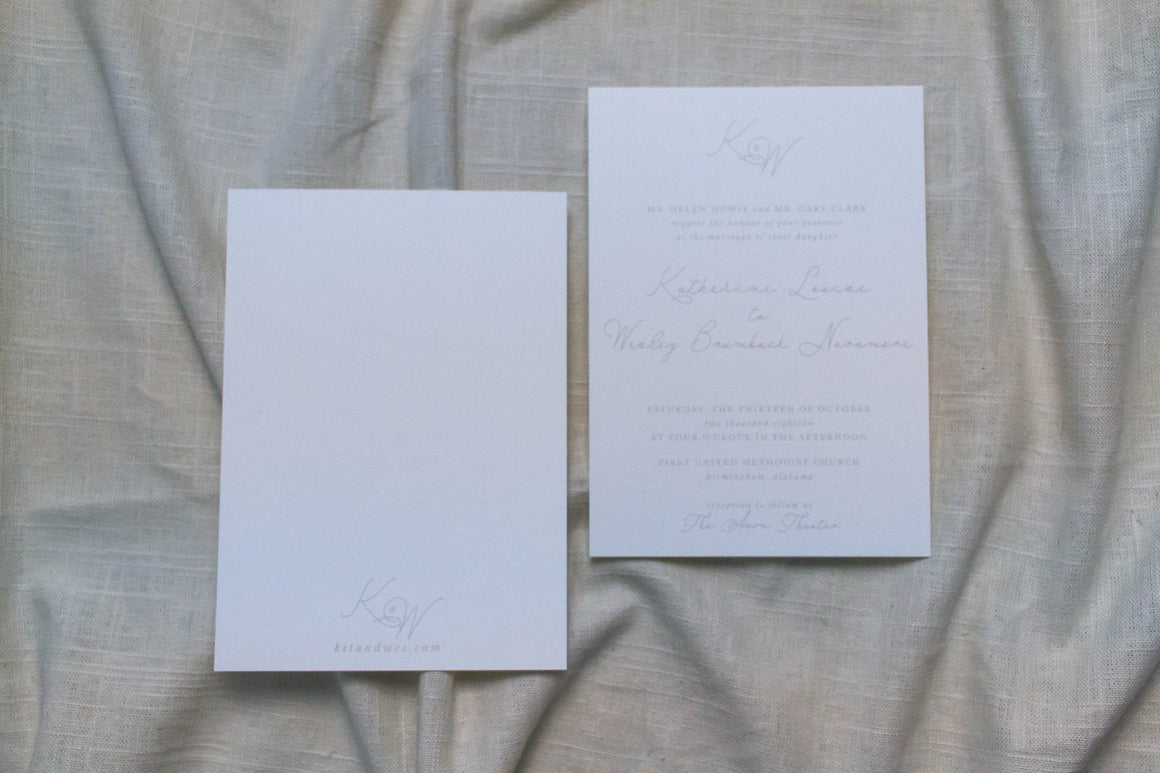 Katherine Invitation