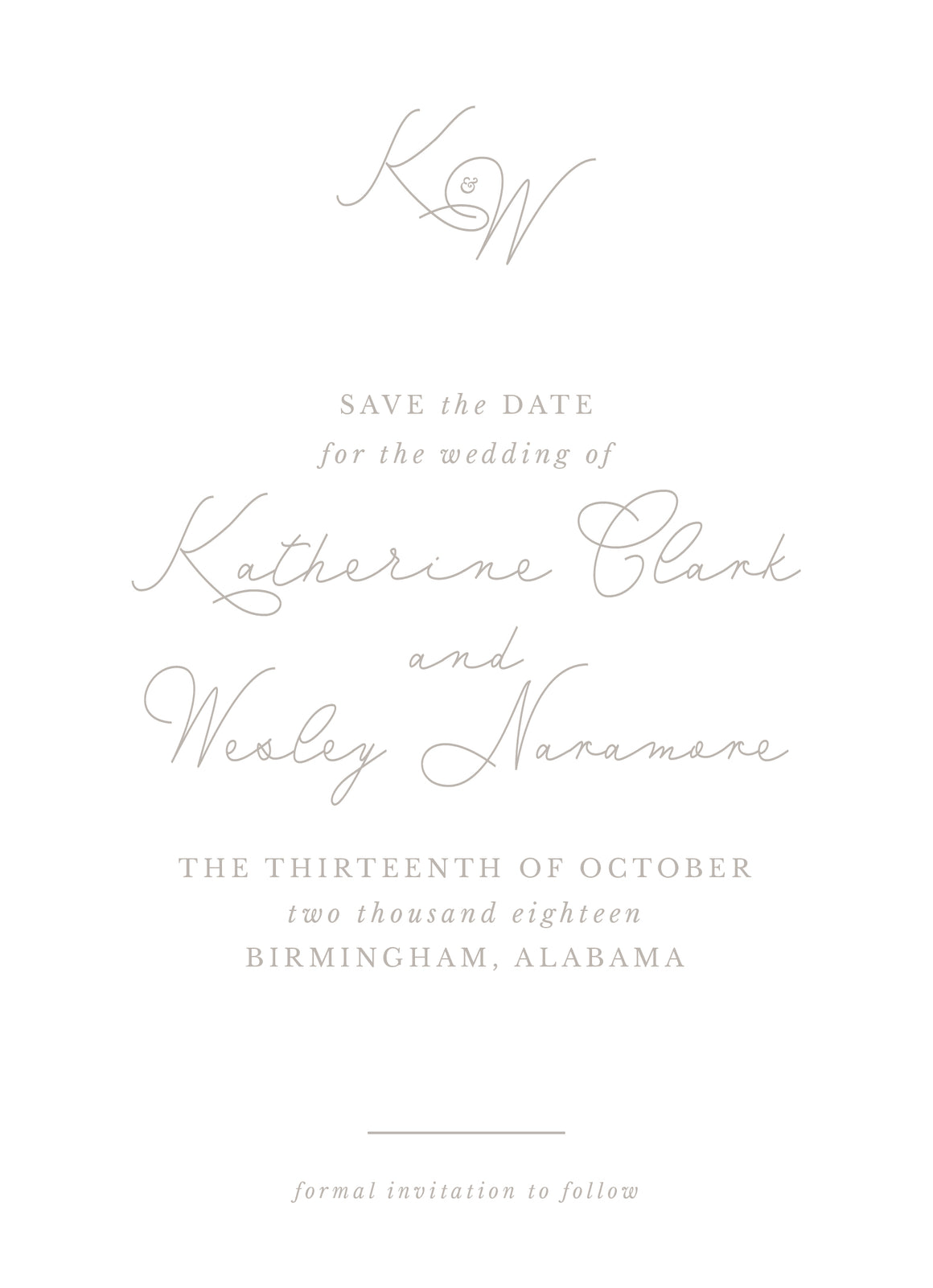 Katherine Save the Date