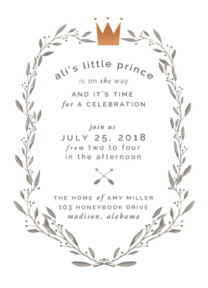 Little Prince Shower Invitation