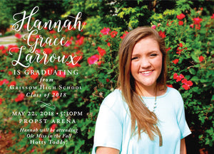 Hannah Graduation Announcement