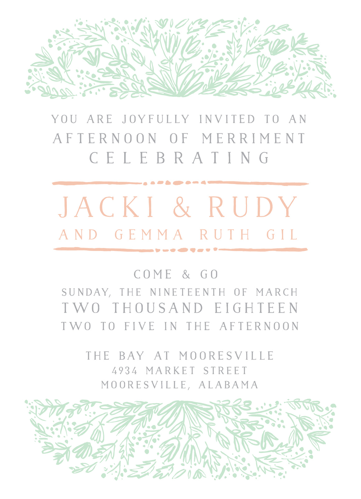 Little Gem Shower Invitation