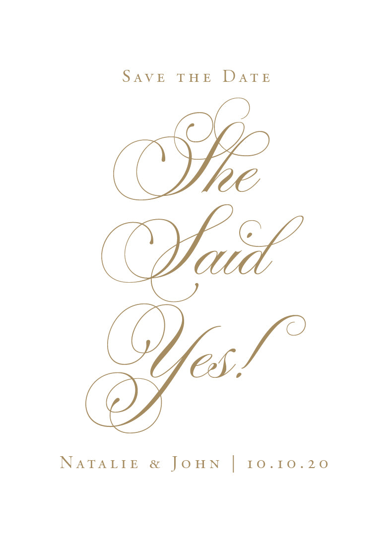 Natalie Save the Date