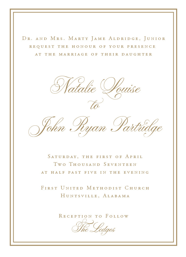 Natalie Invitation