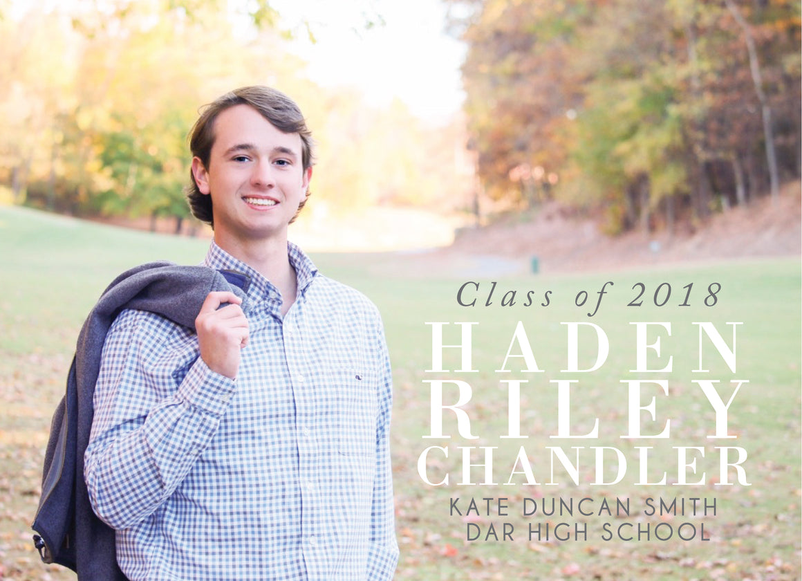 Riley Graduation Announcement
