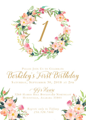 Secret Garden Birthday Invitation