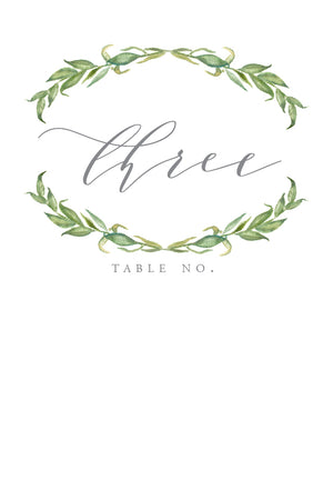 Amanda Table Numbers
