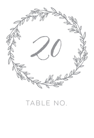 Erin Table Numbers