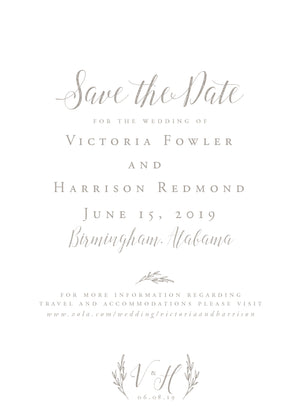 Victoria Save the Date
