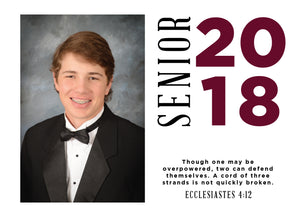 Seth Graduation Announcement