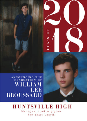 William Graduation Announcement
