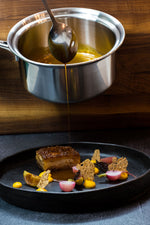Pork Belly w/ Apple, Radish and Squash by Chef Shaun O'Neale