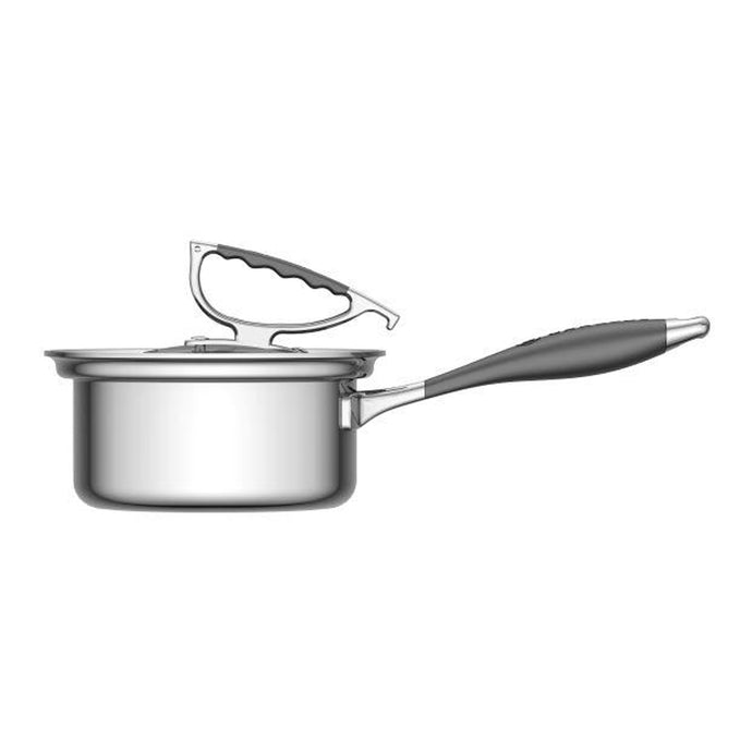 CookCraft by Candace 1.5 QT Sauce Pan with Glass Latch Lid