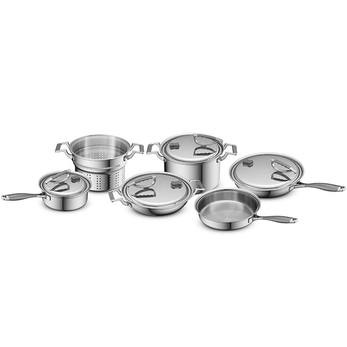 10pc Tri-Ply Stainless Steel Set