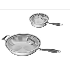 CookCraft by Candace 4pc Tri-Ply Stainless Steel Cookware Set