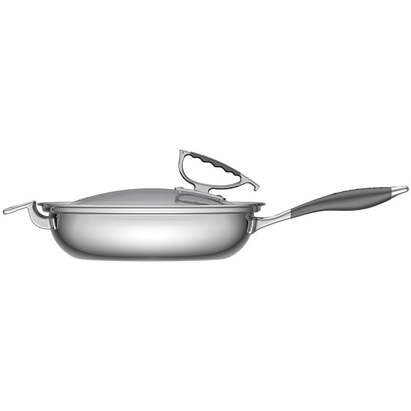 Cookcraft By Candace 13 French Skillet With Glass Latch Lid Cookcraftco Com