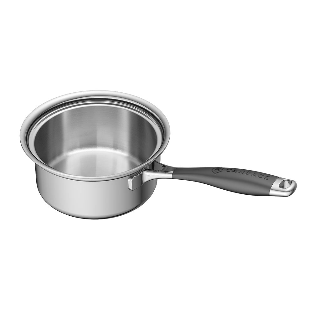 Load image into Gallery viewer, CookCraft by Candace 3 QT Sauce Pan with Glass Latch Lid